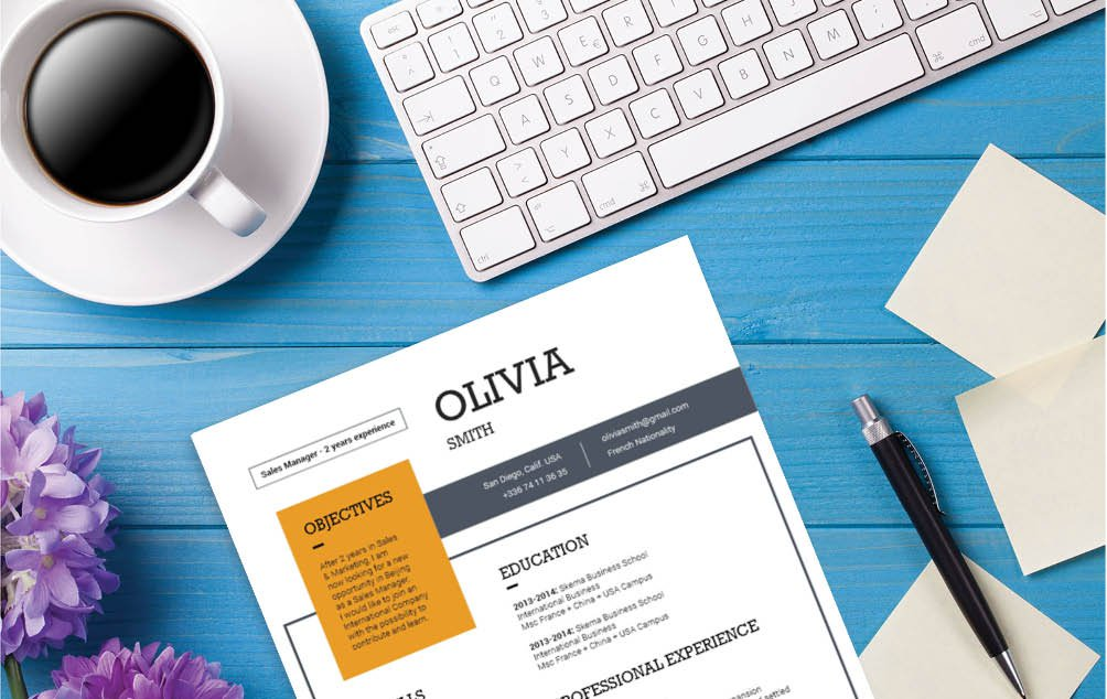 The Modern Resume template design allows for a creative look and feel