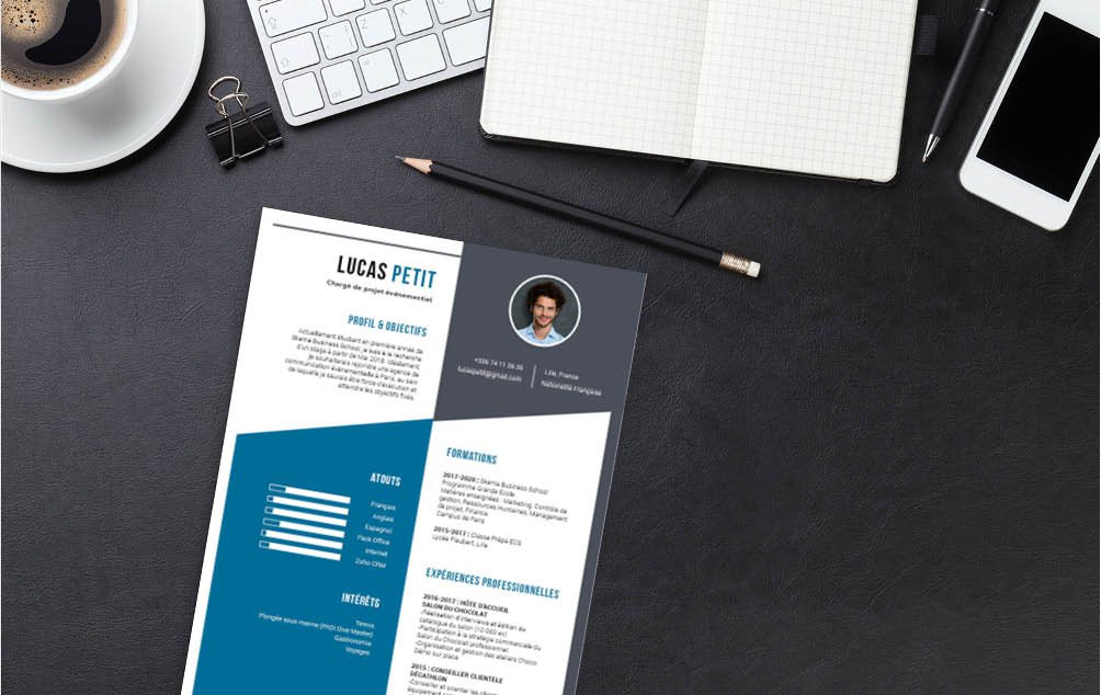 CV au design accessible et clair
