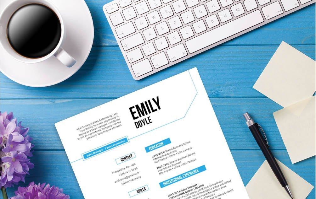 A clear and clean design choise makes this the perfect Modern Resume template