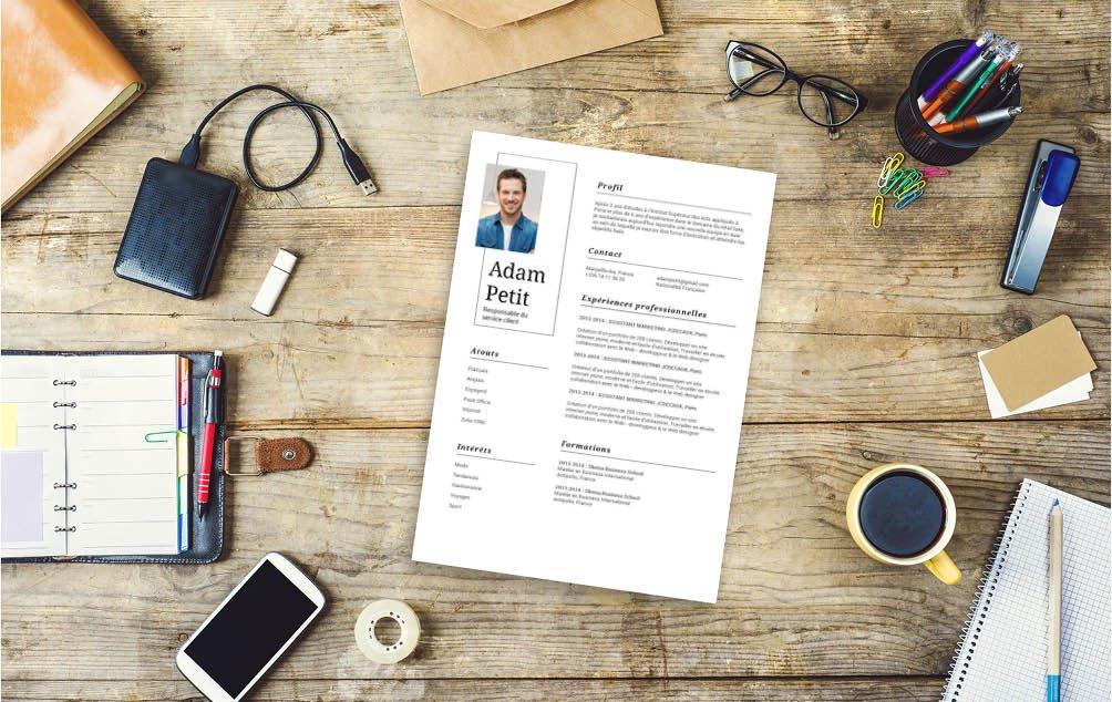 De par sa simplicité ce CV saura intéresser les stagiaires ou les intermittents.