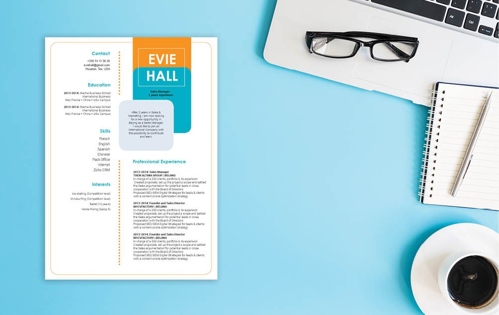 A professional needs an equally impressive skillset and a simple CV template to stand out