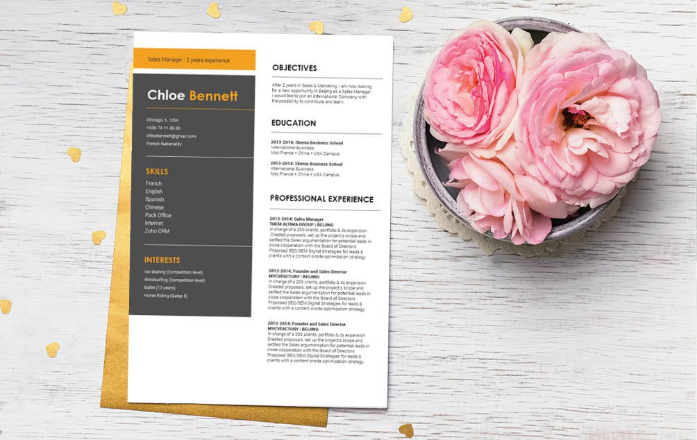 A modern and creative and equally functional -- one of the best online resume templates we have!