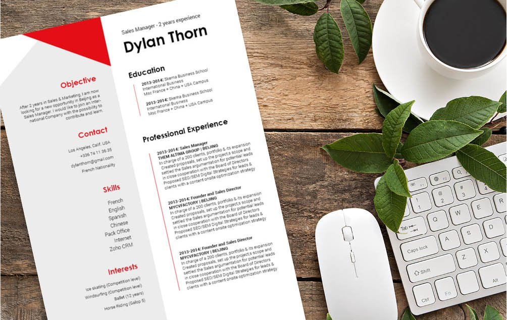 A simple resume template with an equally grea design for the modern worker