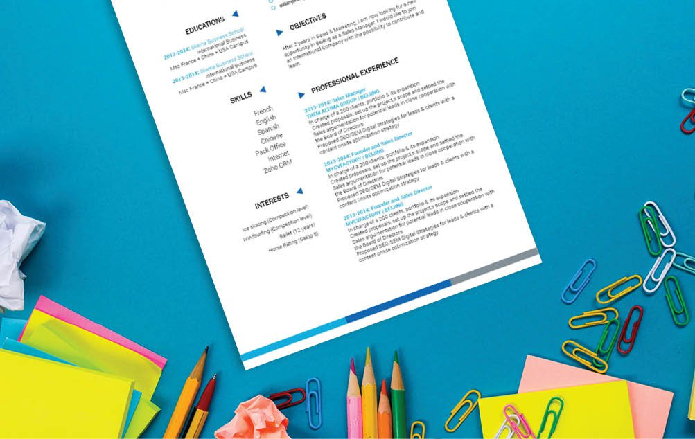 A professional CV template with great designs to make you look professional