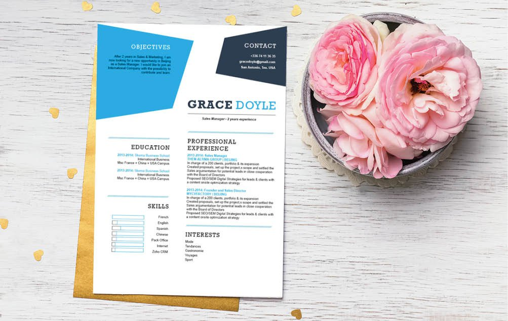 Clear and comprehensive, all the traits needed for a great Simple CV template is here
