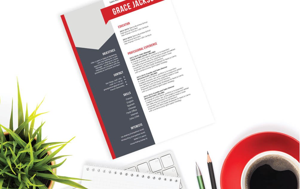 With a clear and creative design, this simple resume template will help you land that dream job
