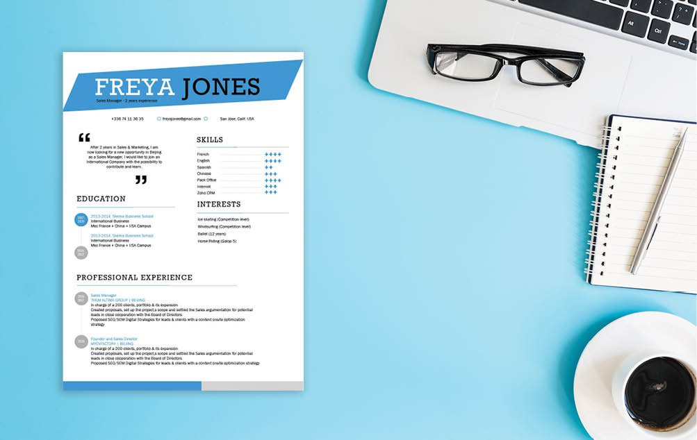 A great degree of professionalism is expressed in this Simple CV template