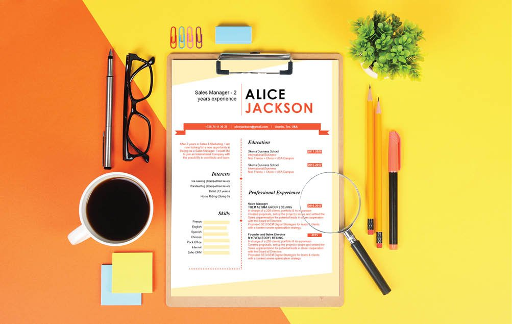 A professional Cv template that is both creative and functional