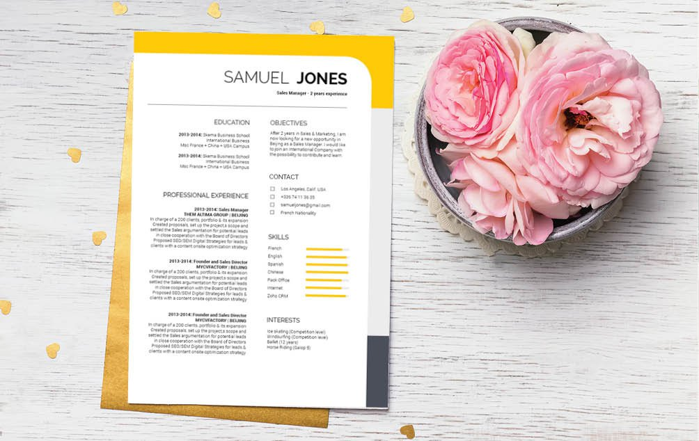 With a great mix of colors, this professional resume template has creativity and functionality figured out