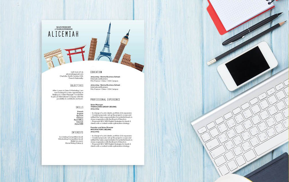 An excellent choice of styles and layout make this a cv format for professionals