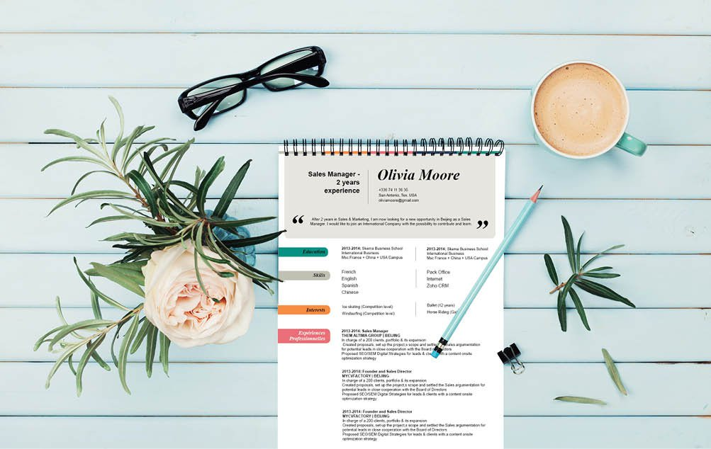 A professiona cv presentation made for all job types -- made to impress!