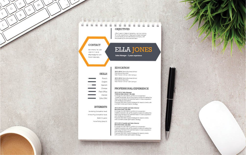 The colors and styles makes this Modern Resume template equally creative and functional