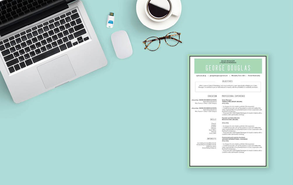 A great resume is crucial for professionals, and this  simple resume template will help you build one!