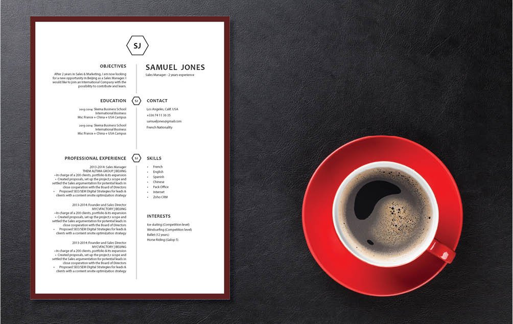 Your potential employer will be amazed of how well-written this modern resume template is