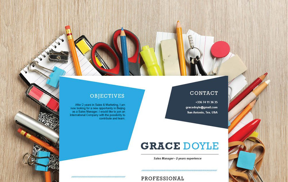 A perfect color sceme for the perfecte Simple CV template