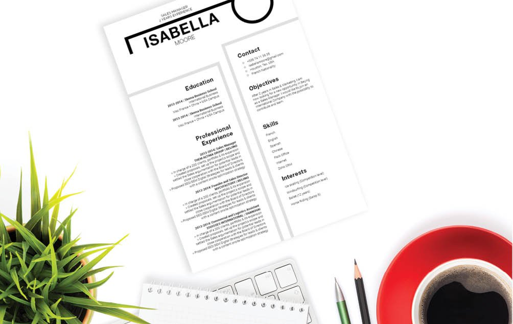 A resume template that bring out the best of any candidate with the best resume format!