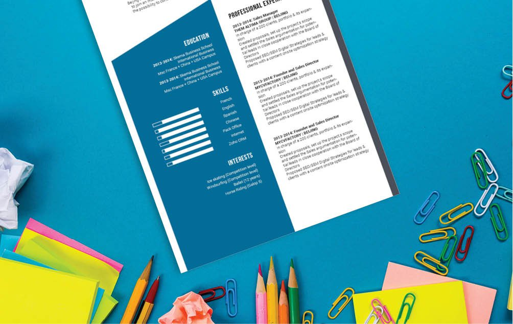Clean and well-formatted, a simple resume to land taht dream job!