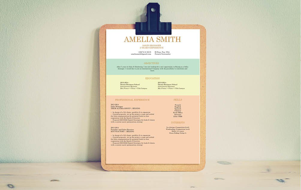 Thisjob resume template has design elements perfectly fitted for the modern job seeker