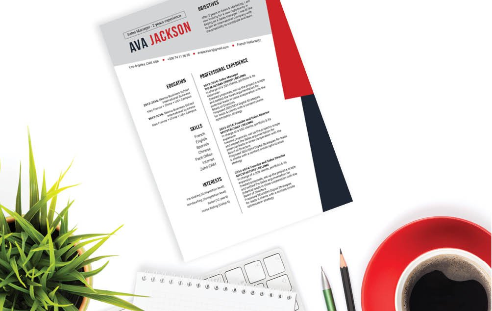 Find one of the best good resume templates onlines in this CV!