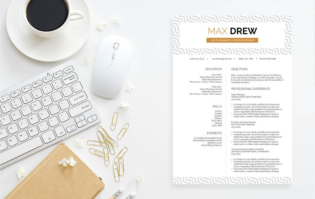 Everything is highlighted perfecetly in ths functional resume template