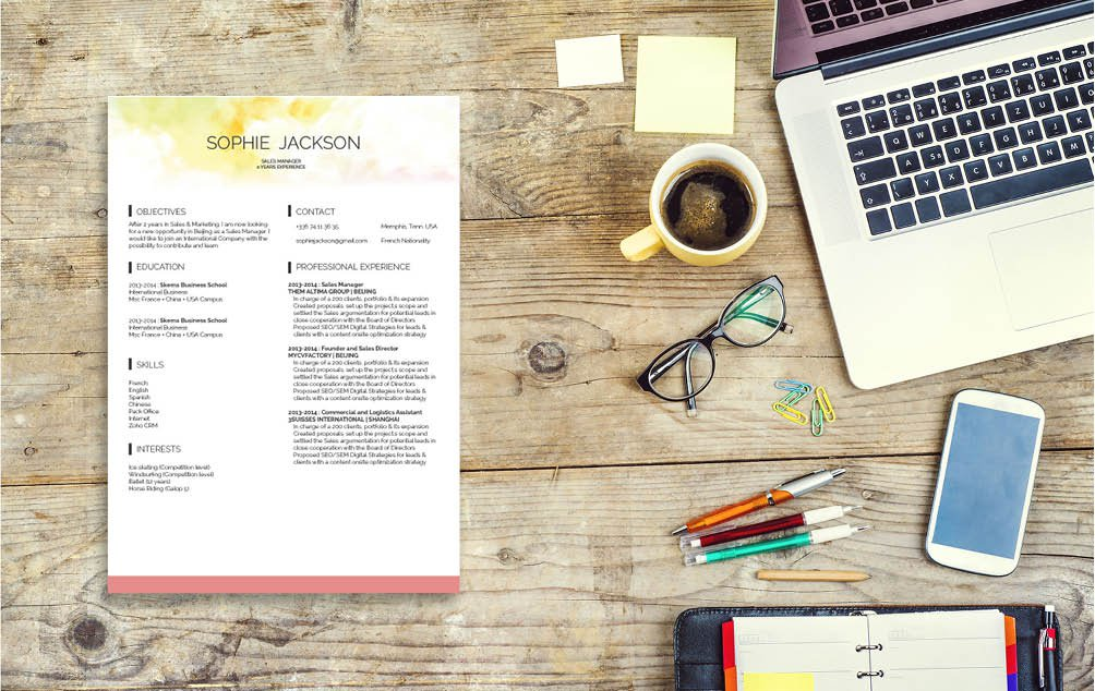 Simple and creative! A job resume template to help you build the perfect CV