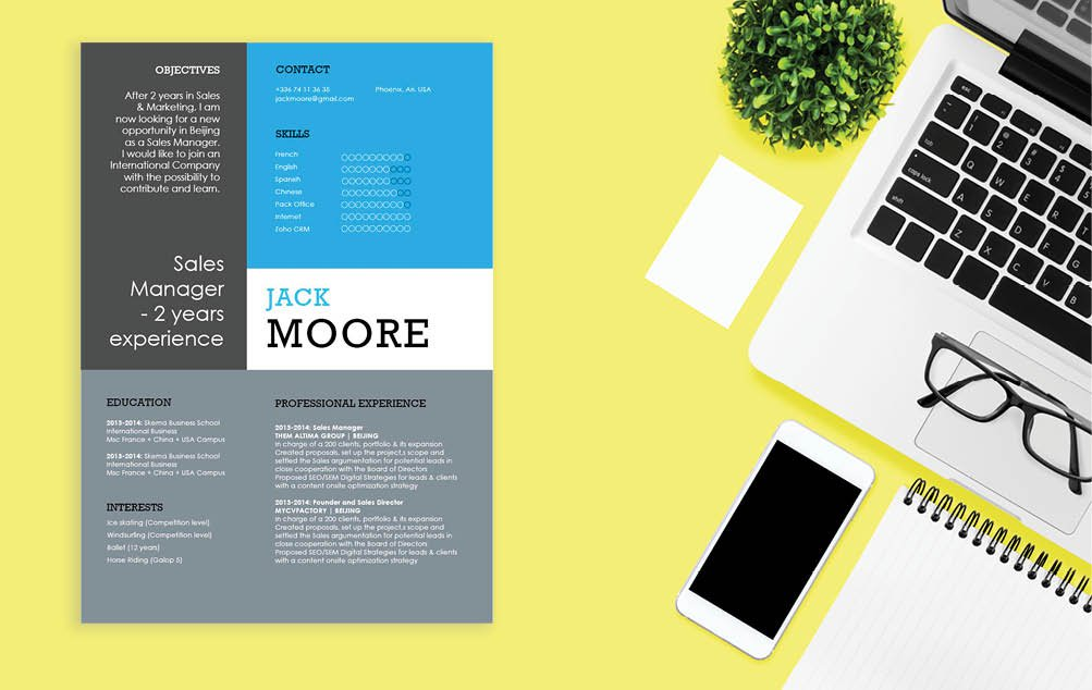 Creative and functional design, all points that make a good Modern  CV