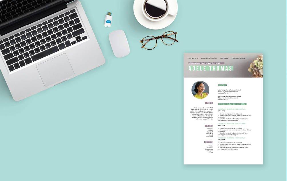 Un CV qui sait attirer l'œil rapidement. Un Cv beau et riche en couleurs.