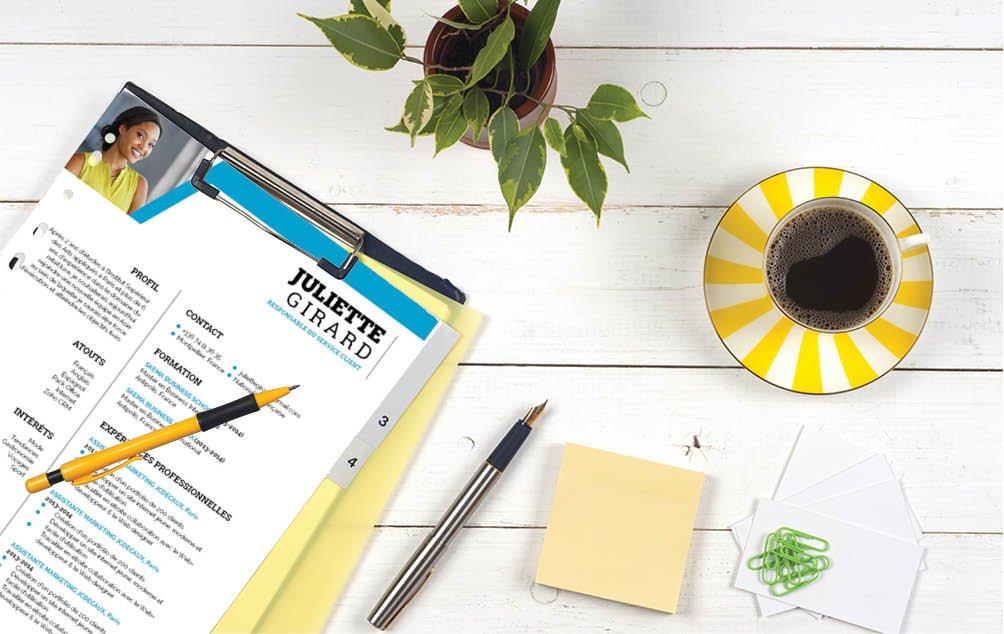 Ses couleurs vives contribuent tout de suite à rendre ce CV plus attrayant. Un atout apprécié par un recruteur.