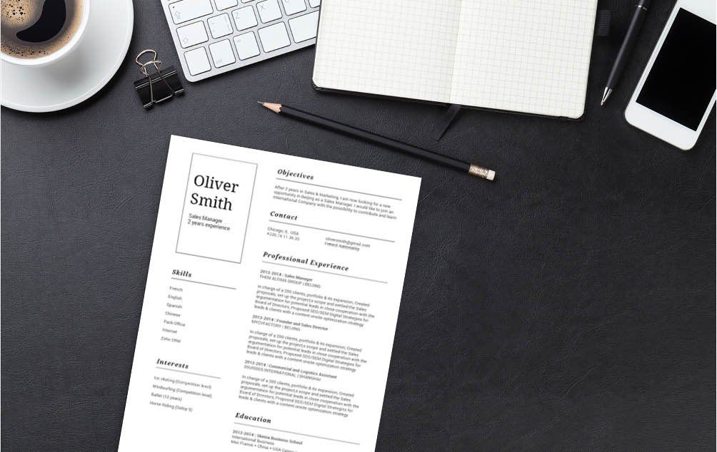 Every section is very well written in this functional resume template