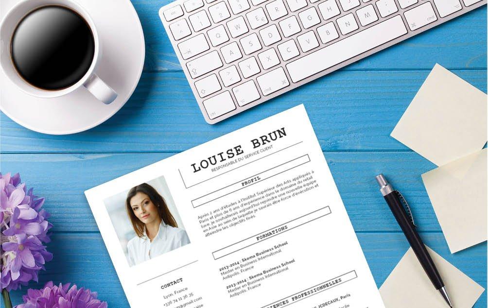Modèle de CV d'apparence classique, peu de couleurs mais une bonne lisibilité du CV