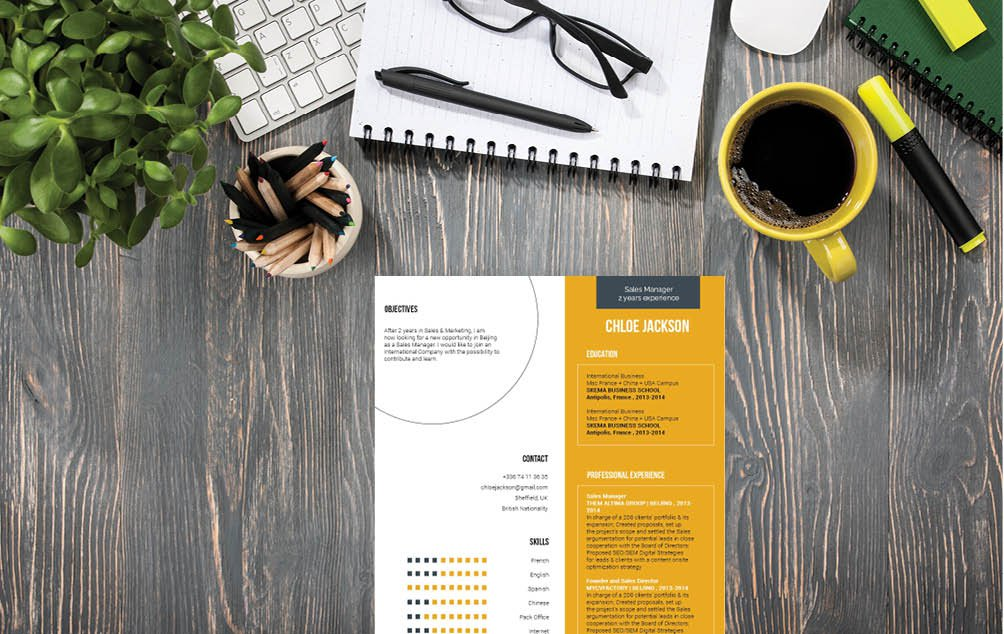 Your skills and experience are clearly highlighted thanks to this Simple CV Template's design