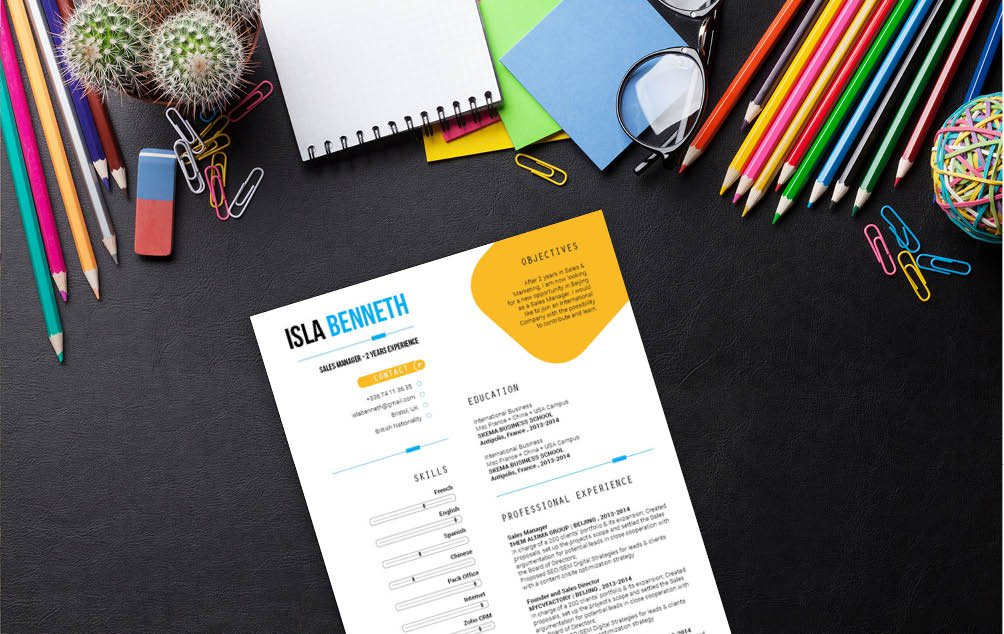 Get that interview with his professional resume template! A slick and simple design is all you need