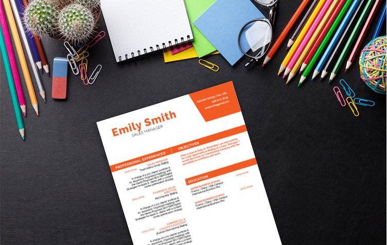 Watch the job offers flood in thanks to this template's creative and original CV design