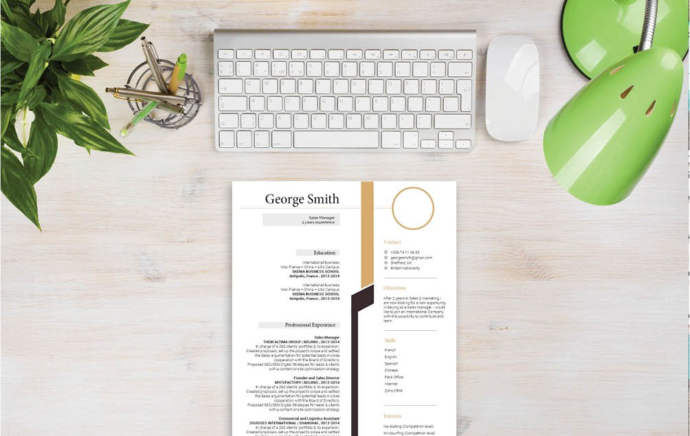 Bring out your creative side with the use of this moderncv format's functional, yet simple resume format
