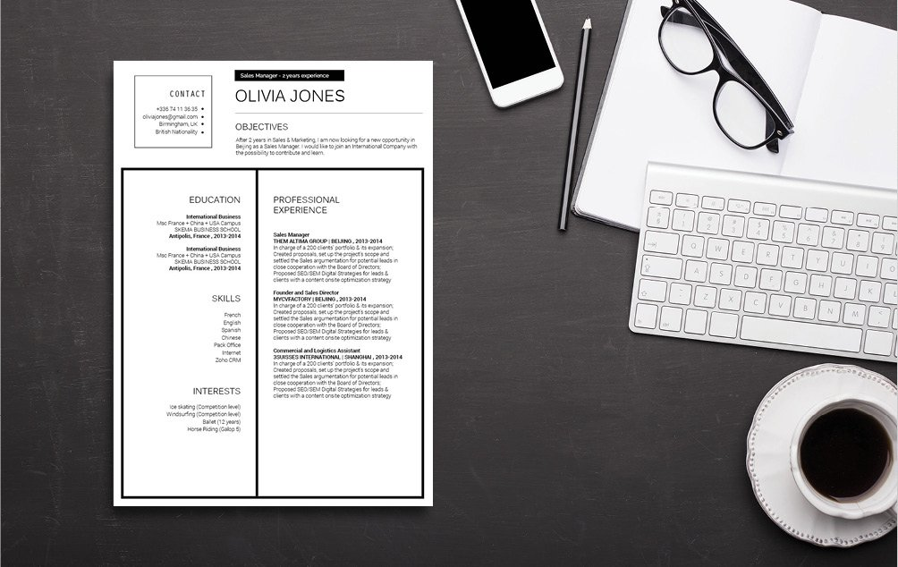 This modern resume template, yet creative and functional at the same time