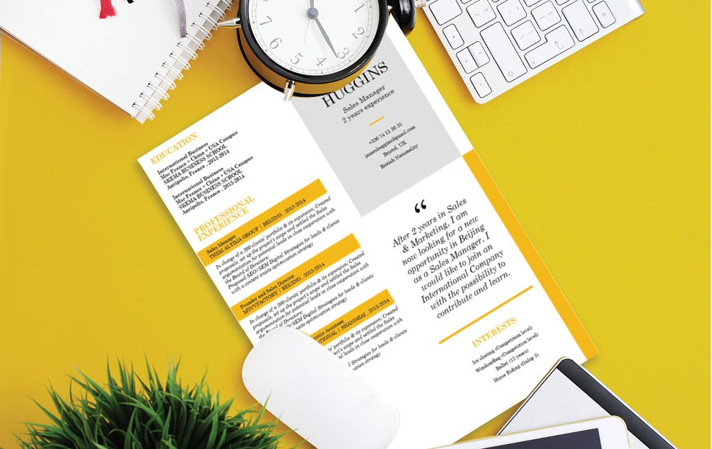 An impressive resume template with an equally functional design and format