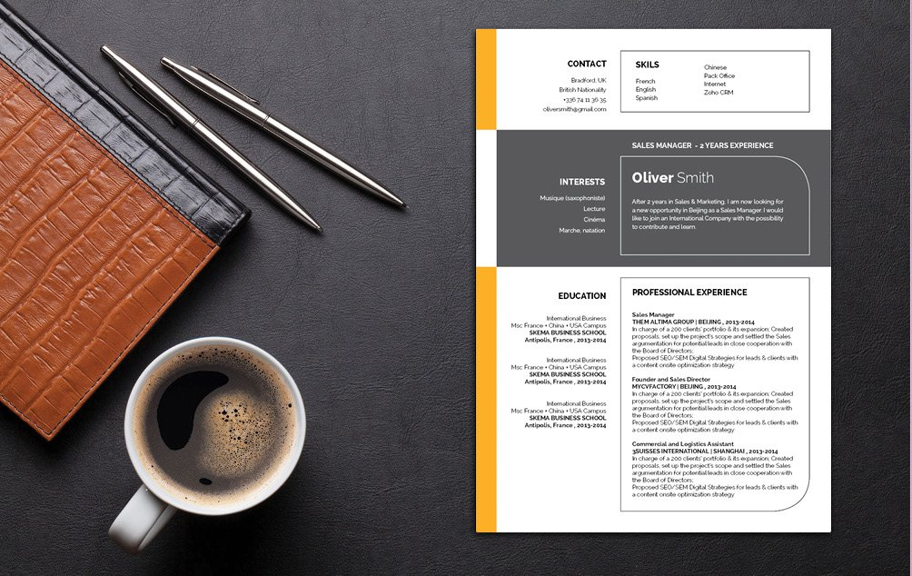 Watch the job offeres flood in when you use this professional resume template