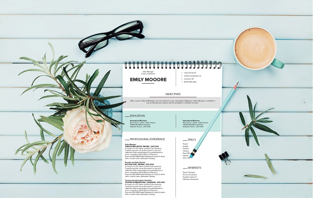 This modern CV template features a rigorous design makde for the modern worker!