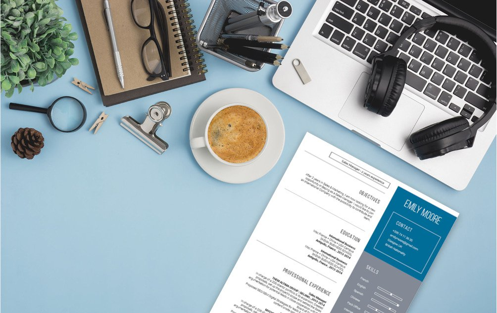 Creative and functional design, all points that make a good modern resume template
