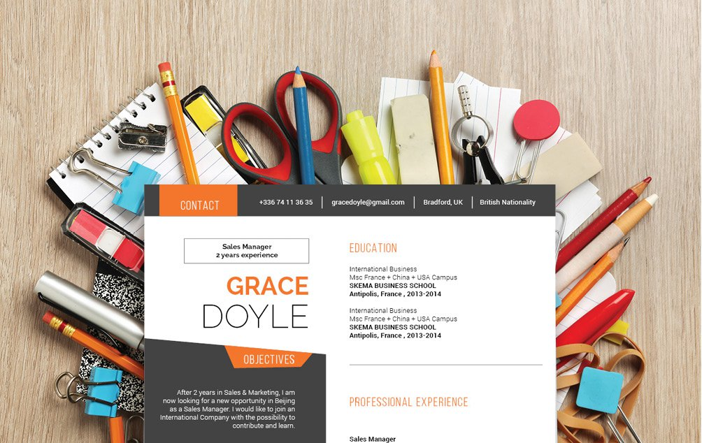 A professional profile should have a simple resume layout, and this modern CV template delivers!