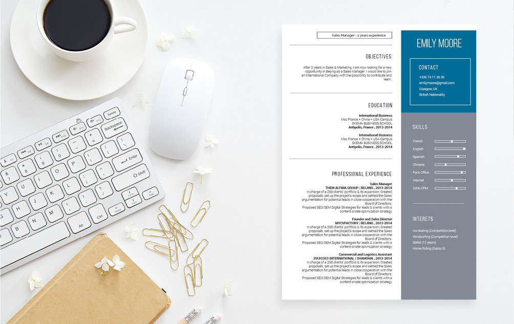 A modern resume template makes the difference between getting that dream job or not