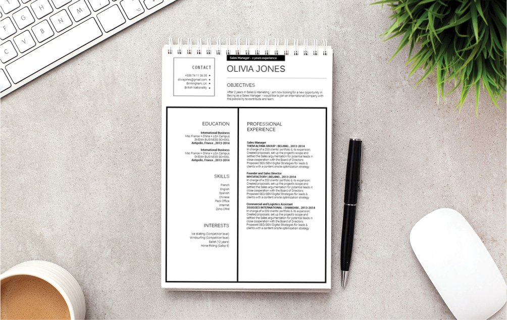 Grab the dream career with this modern resume template!