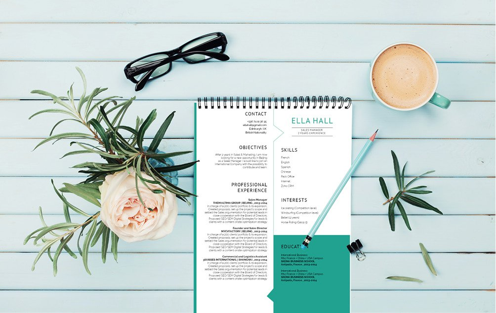 Create that perfectly modern resume template for any job type!