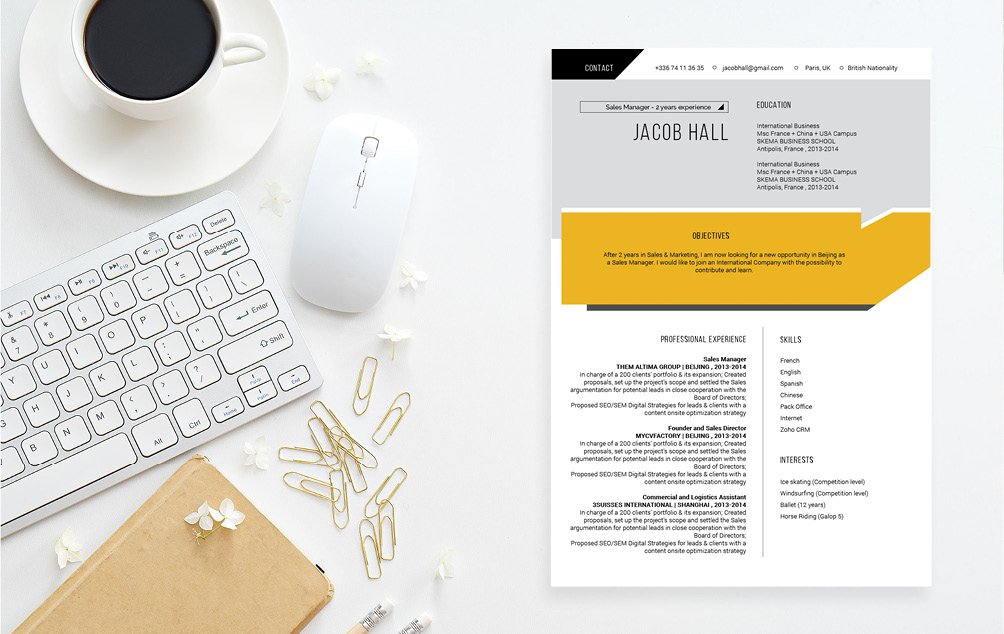 A crips and modern design makes this Modern CV Template even better!