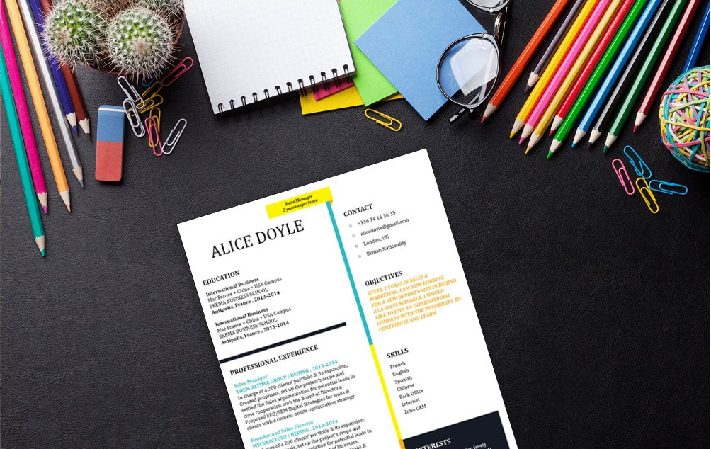 A functional modern CV template that presents all your work experience perfectly