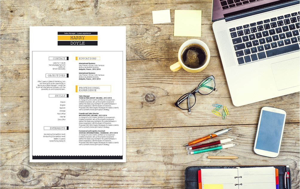 A modern resume template to jump start your great career