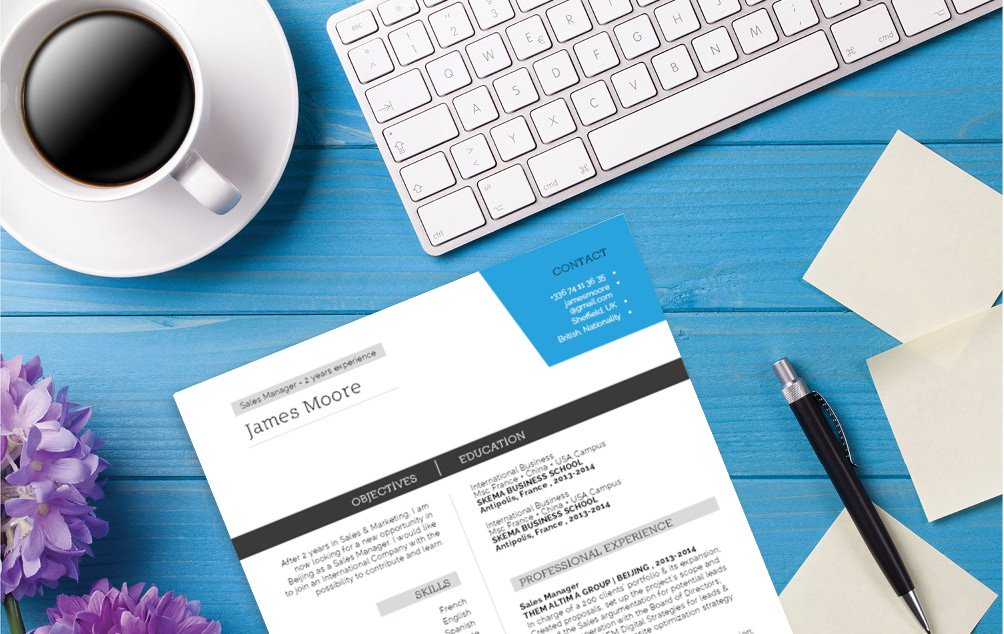 Great choice of colors and designs for the professional CV template