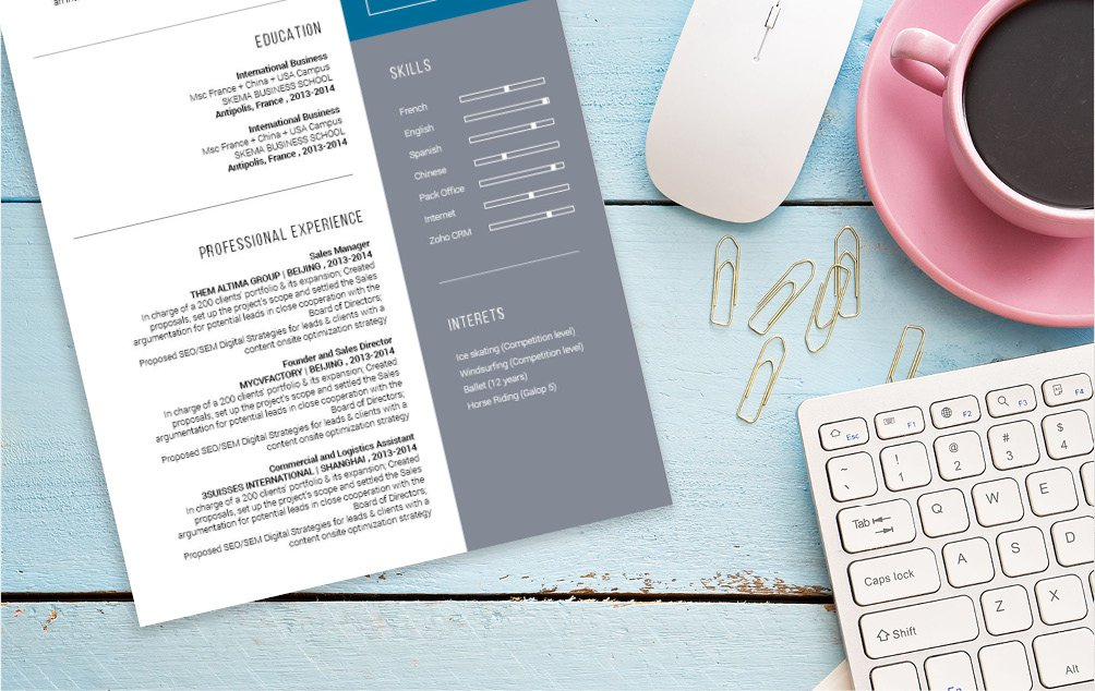 Need a great modern resume template? Then choose the Handsome Resume!