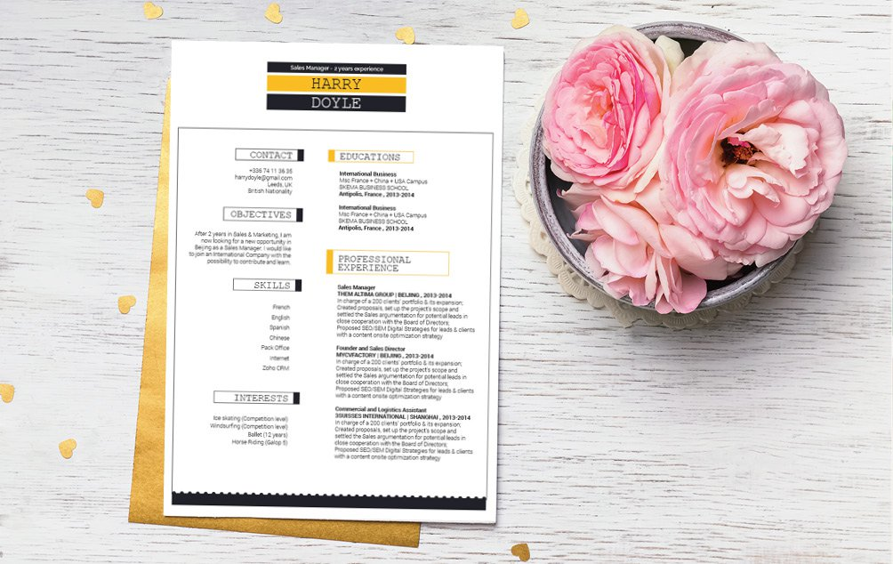 This is the perfect modern resume template with an excellent balance of style and professionalism