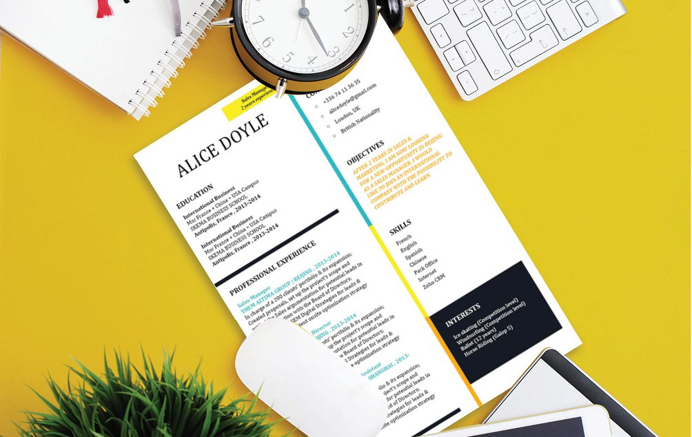That dream job of yours is achievable with this modern CV  template!